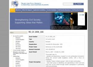 asociatia pro democratia 109 985 USD Soros